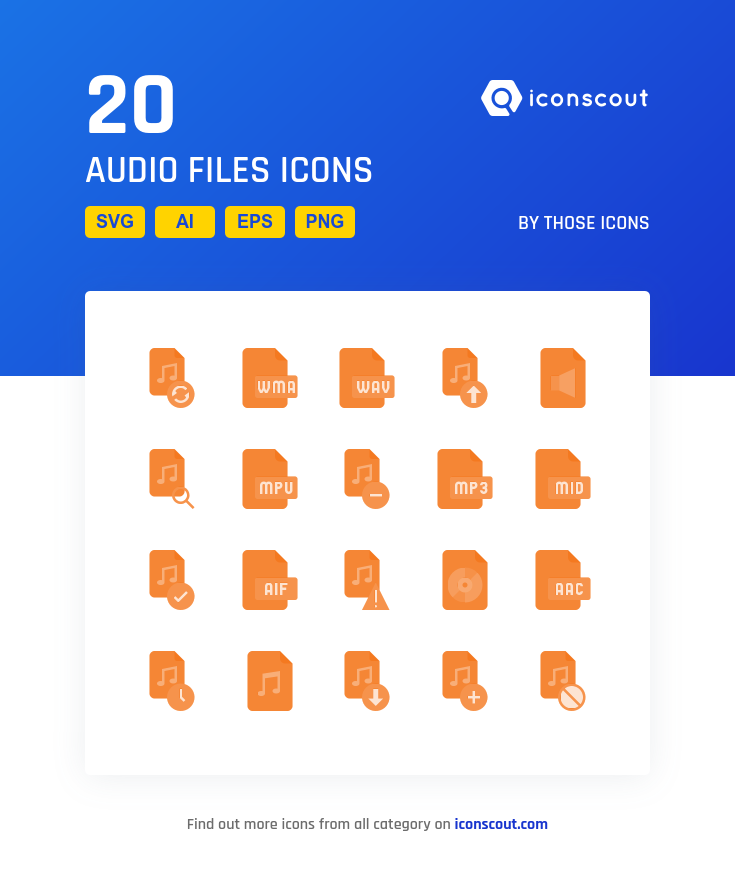 Download Audio Files Icon Pack Available In Svg Png Eps Ai Icon Fonts Icon Pack Icon Flat Icon