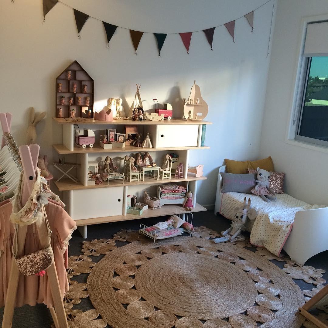 Modern Little Girlu0027s Room With Ferm Living Dorm Shelf, Oeuf NYC Mini  Library, Armadillo