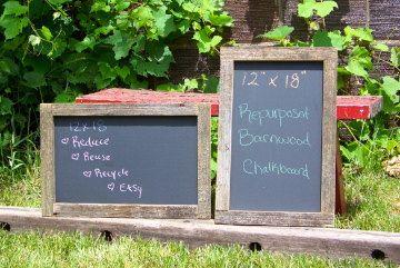 ONE Repurposed Rustic Barnwood Chalk Board by SaveTheBarns on Etsy, $24.00