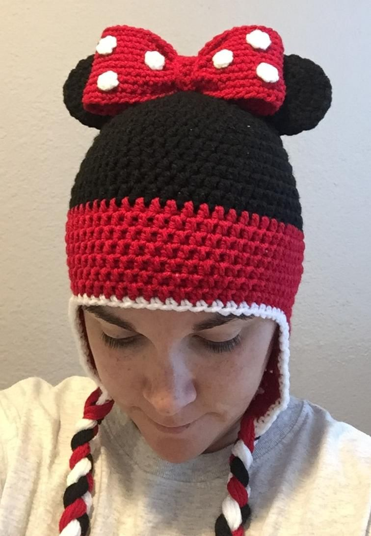 Adult Size Minnie Mouse Beanie  d7342e37bf79