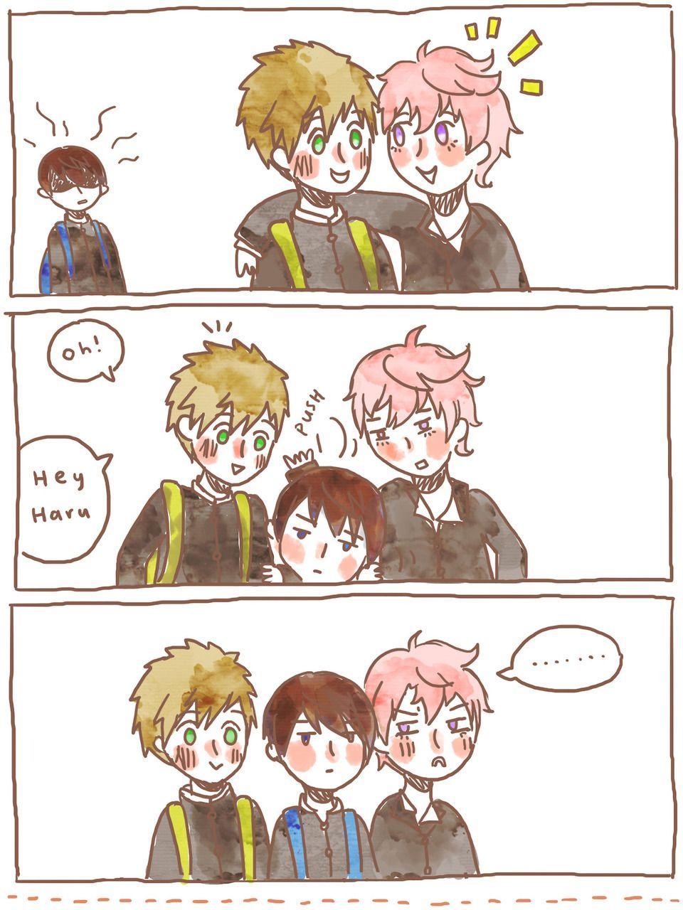 Makoto is Haru's ... Free! - Iwatobi Swim Club, haruka nanase, haru nanase, haru, free!, iwatobi, makoto tachibana, makoto, tachibana, nanase, kisumi shigino, shigino, kisumi