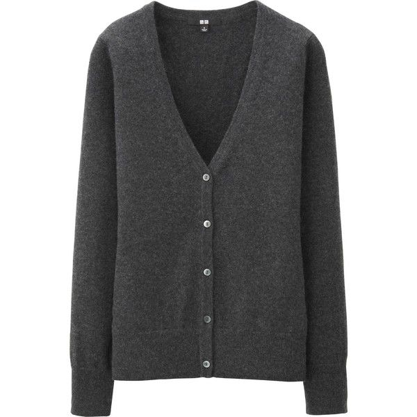 UNIQLO Women Cashmere V Neck Cardigan ($100) ❤ liked on Polyvore ...