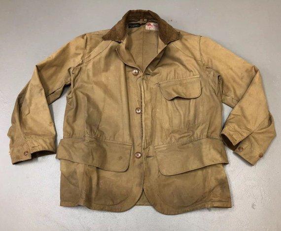 dc154d96963b5 Vintage 1930's Duxbak Jacket - Rain Proof Sportsman's Clothing - Utica  Duxbak Corp N.Y. Hunting Jackets