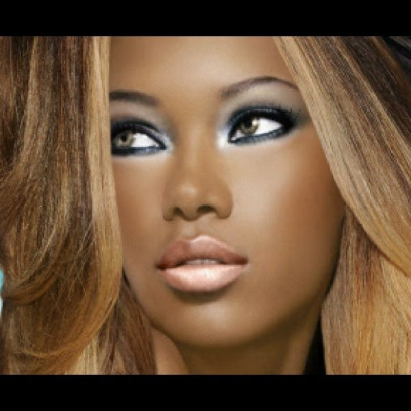 """Virtual Hairstyle For Your Face: """"glam"""" Created Using TAAZ Virtual Makeover. Try On"""