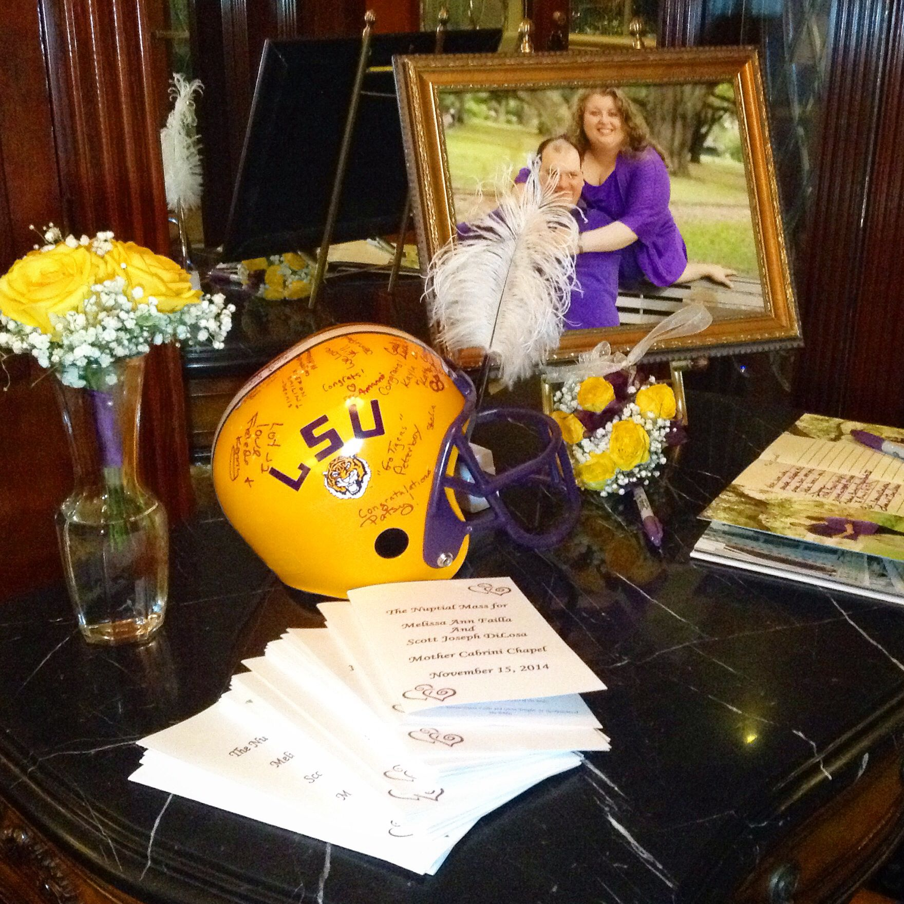 Party Halls Metairie: LOVE This Guest Book! Sign The LSU Helmet For The Bride