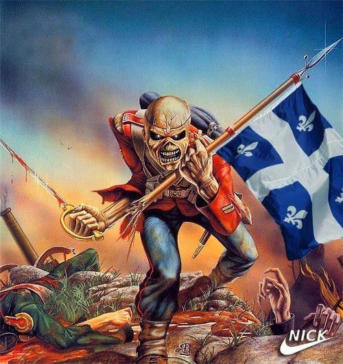 Quebec Assault Iron Maiden Albums Iron Maiden Posters Iron Maiden The Trooper