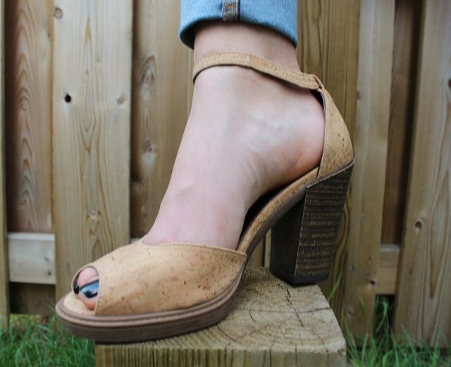 comfortable and gorgeous..Cork heels