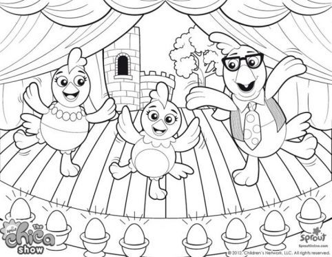 Chica and her parents - printable coloring page! | The Chica Show ...