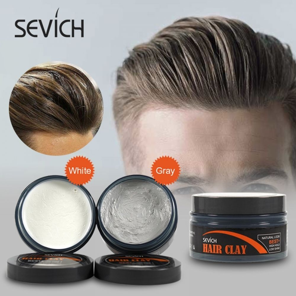 Sevich Hair Styling Clay Long Lasting Dry Stereotypes Type Clay 100g New Hair Wax Disposable Strong Modeling Mud Shape Hair Gel 16 Hair Wax Hair Clay Hair Gel