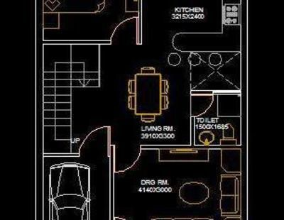 House Architectural Space Planning Floor Layout Plan 20 X50 Free Dwg Download Floor Layout Simple House Plans Indian House Plans