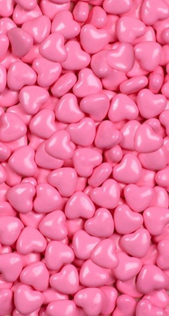 Shimmer Pink Hearts Candy
