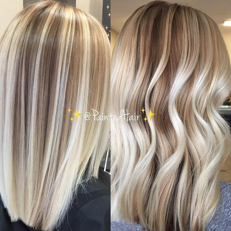 Hand Painted And Blended Into Natural Roots Vanilla Blonde Toned Painted Hair Straight And Waved Balayage Straight Hair Balayage Hair Blonde Hair Color