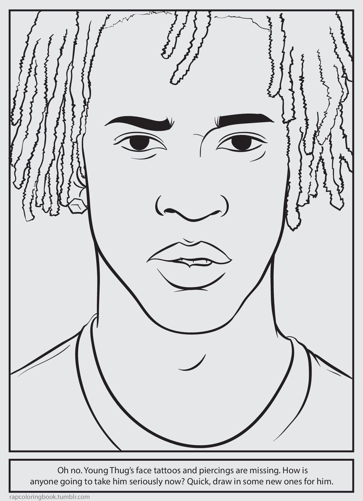 Bun B\'s Jumbo Coloring And Rap Activity Tumblr | Young Thug is so ...