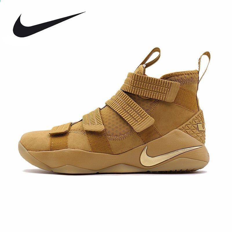 208b00a45c9 NIKE मूल नया आगमन पुरुषों बास्केट बॉल स्नीकर्स LeBron सैनिक सांस लेने योग्य  जूते पुरुषों ...