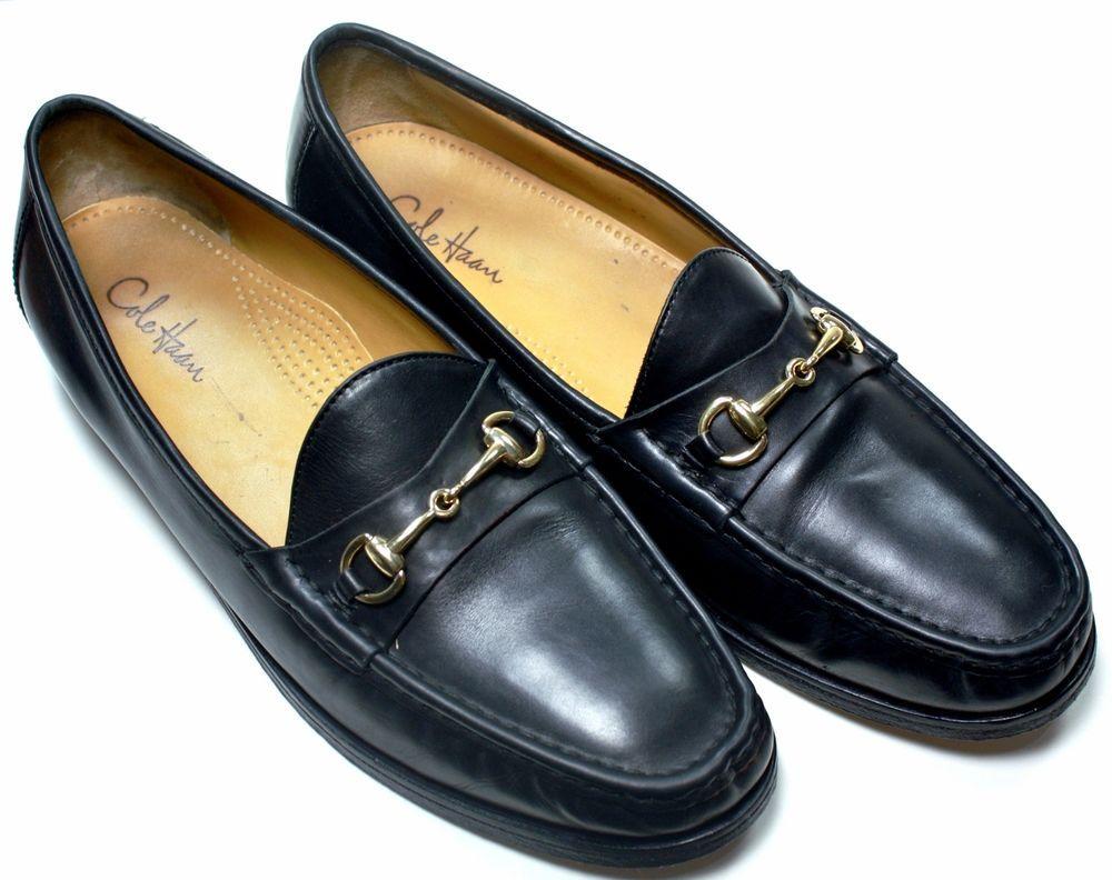 cb47ce8d95d Men's Cole Haan Ascot II Black leather Gold Horse bit moc toe loafer sz 11½  M #ColeHaan #LoafersSlipOns
