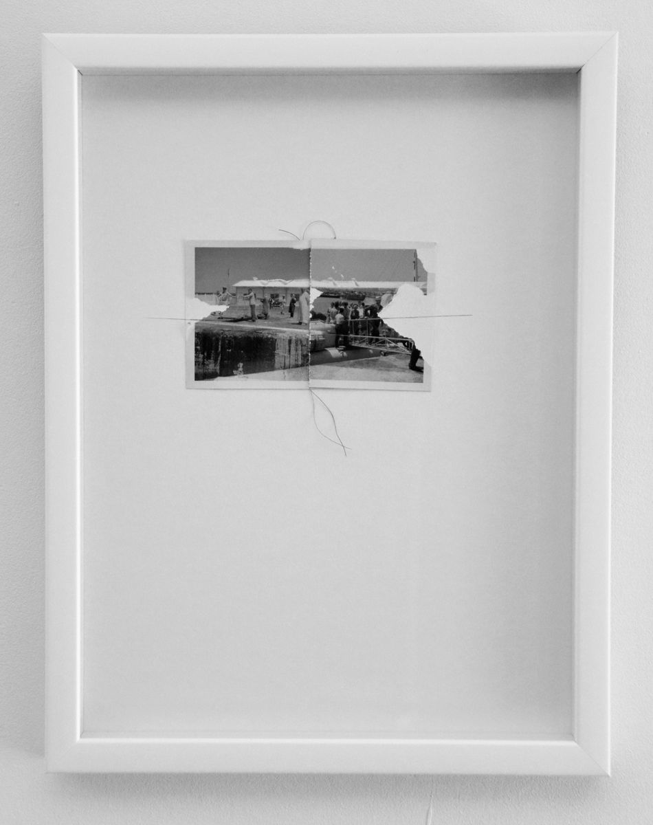Interferences #15 2016, Adapted old photo. Frame 30x20 cm http://www ...