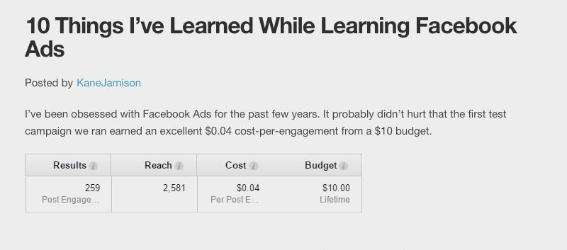 10 Things I've Learned While Learning Facebook Ads #Facebook