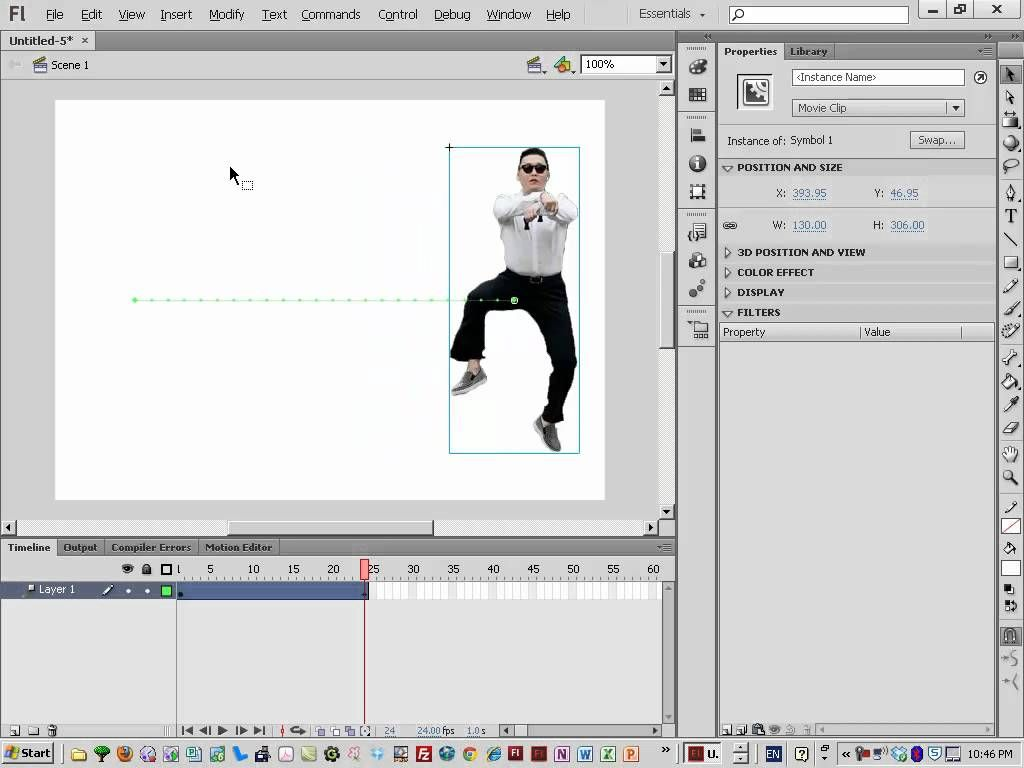 Motion Tween Tutorial Flash Animation Tutorial Tween