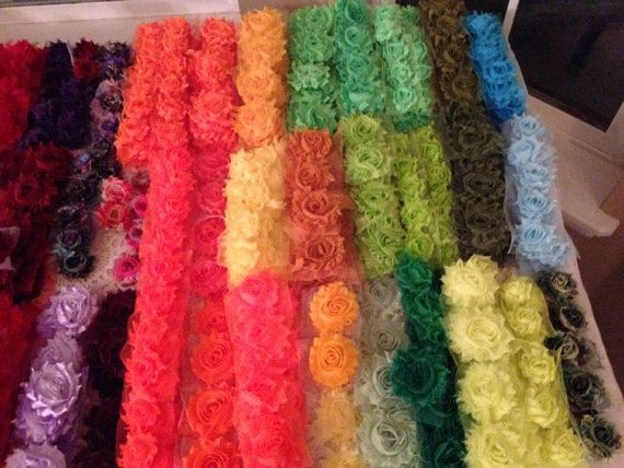 Shabby Flowers grab bag, 100 for 35 dollars, no clips.  Lots of colors to choose from, great selection.  Like me on FB Shabby Princess Deals on Etsy, $35.00
