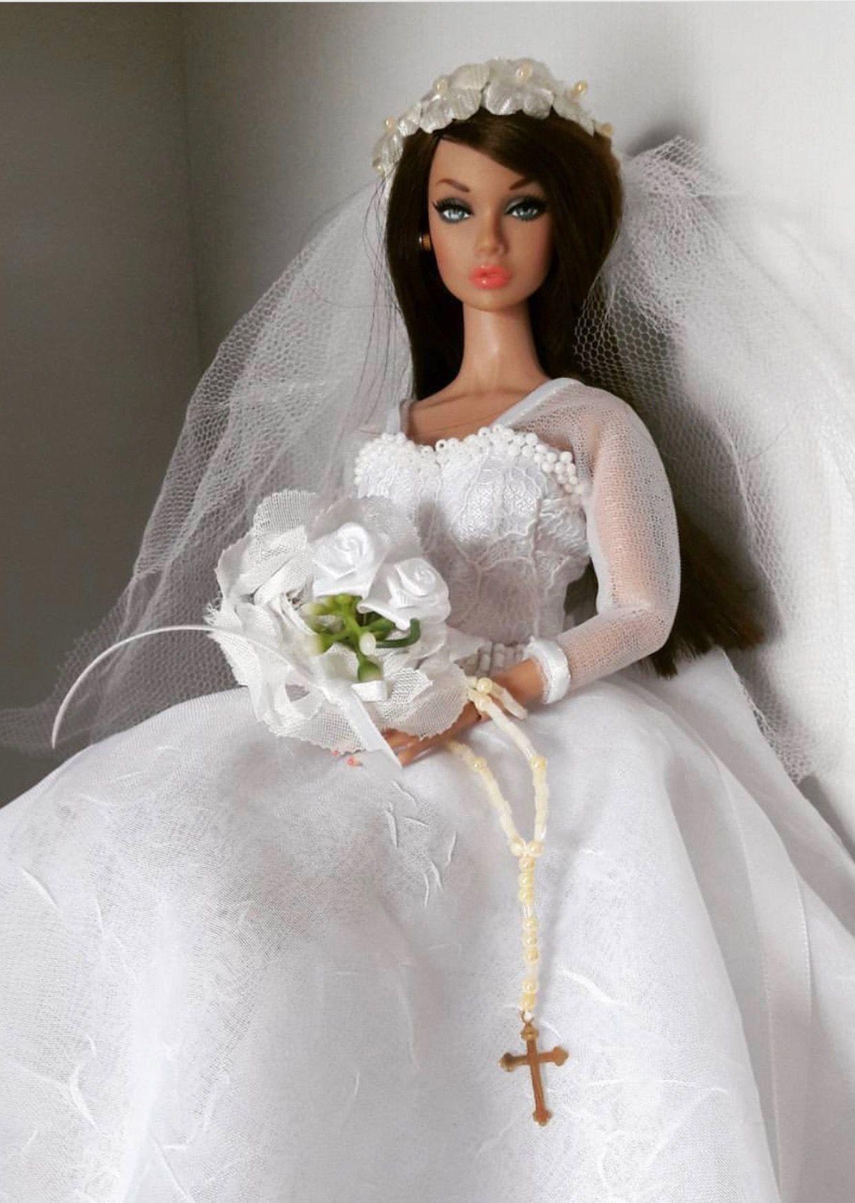 Doll wedding dress   vestindodollstanialeao  Barbie u Tonner dolls Rement