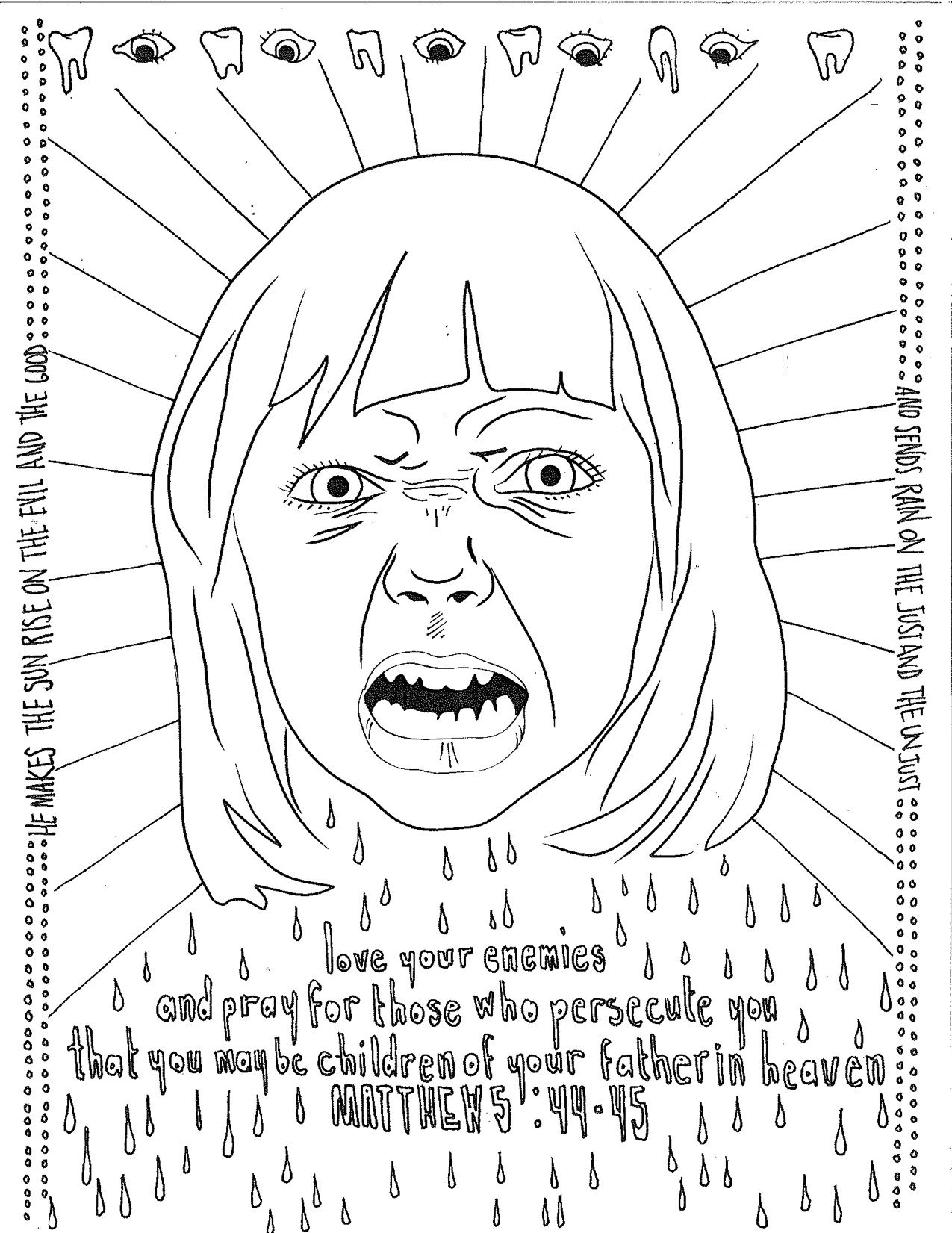 Love Your Enemies Matthew 5 16 Coloring Pages