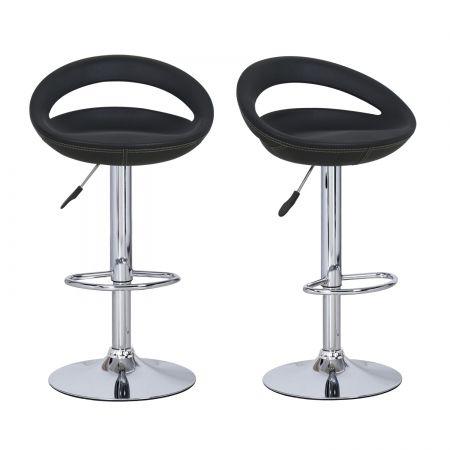 Surprising 360 Degree Swivel Adjustable Semi Open Back Leather Look Bar Machost Co Dining Chair Design Ideas Machostcouk
