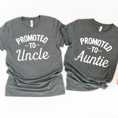 Promoted to Auntie Uncle #auntshirts