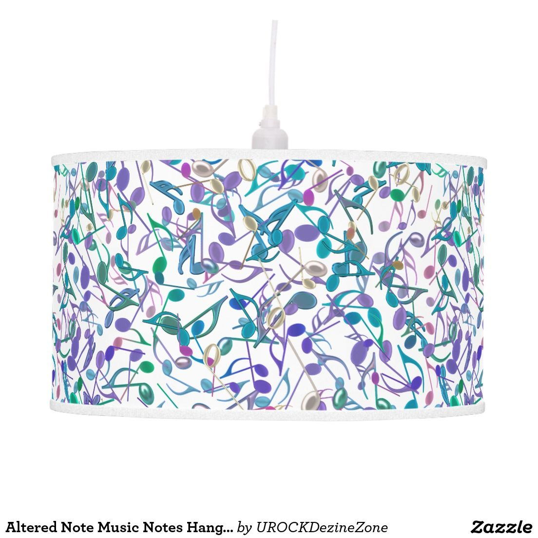 Altered Note #Music Notes Hanging #Lamp   #zazzle