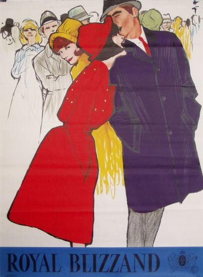By René Gruau, c 1 9 6 5, Royal Blizzand (Red and Blue).