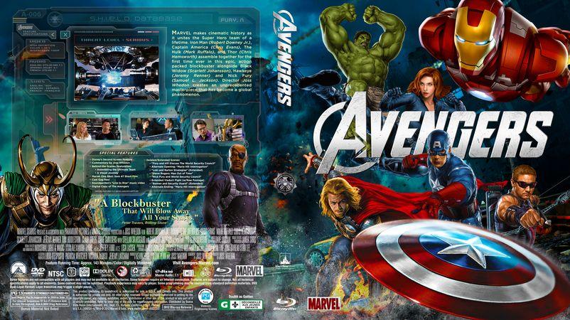 Custom bluray covers the avengers efx coverart