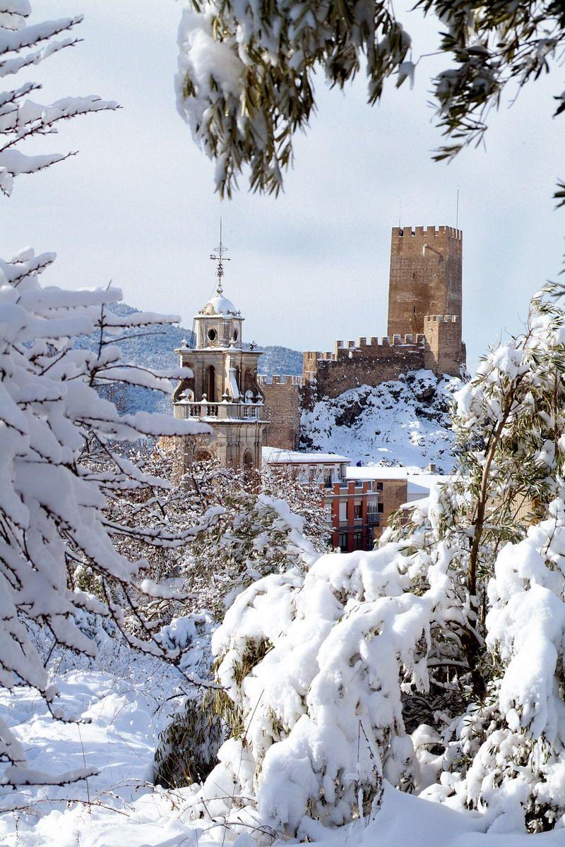 Banyeres de Mariola, nieve