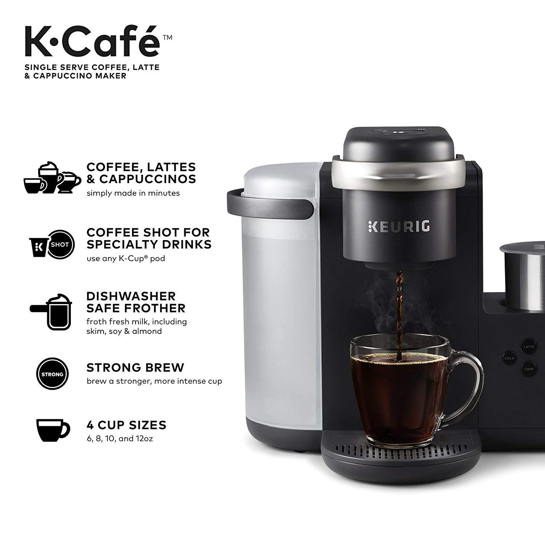 Keurig K Cafe Single Serve K Cup Coffee Maker Coffee Shot Latte