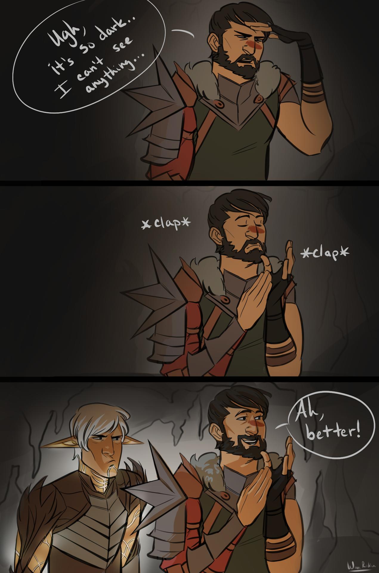 PFFT  LOLOL  Fenris & Hawke  FenHawke  Dragon Age II