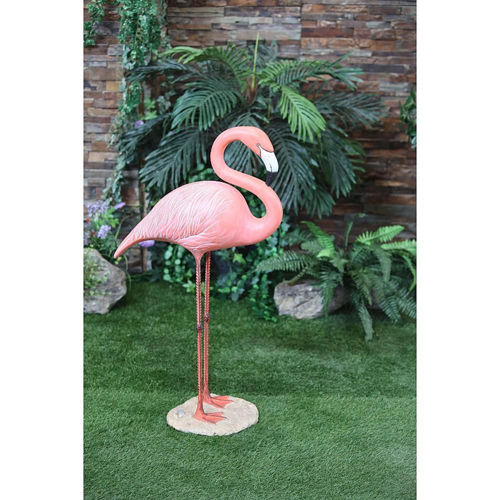 Garden Large Flamingo Statue Decor Pink Outdoor Stand Yard Lawn Standing Patio