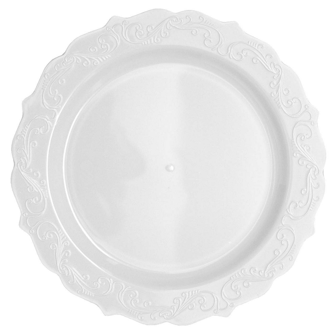 9\  Elegant White Plastic Lunch/Dinner Plates  sc 1 st  Pinterest & 9\
