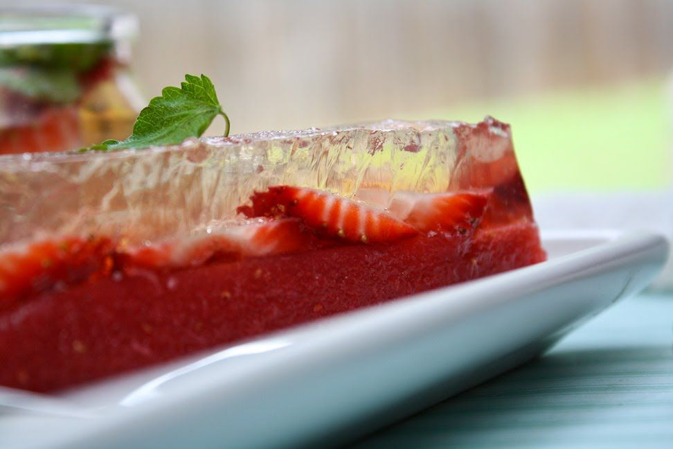 Sprinkle Bakes: Strawberry Ginger Ale Terrine
