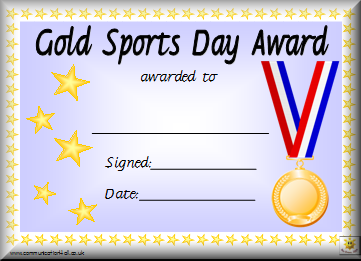 Printable sports award certificates template ideas for for Athletic certificate template