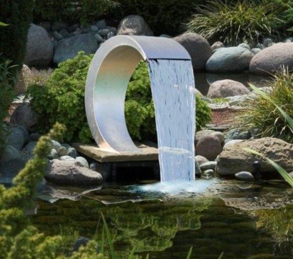 Wasserfall im Garten - 25 wunderschöne Ideen - Archzinenet Water