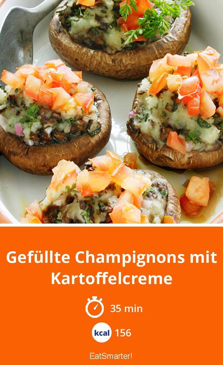 Photo of Gefüllte Champignons mit Kartoffelcreme