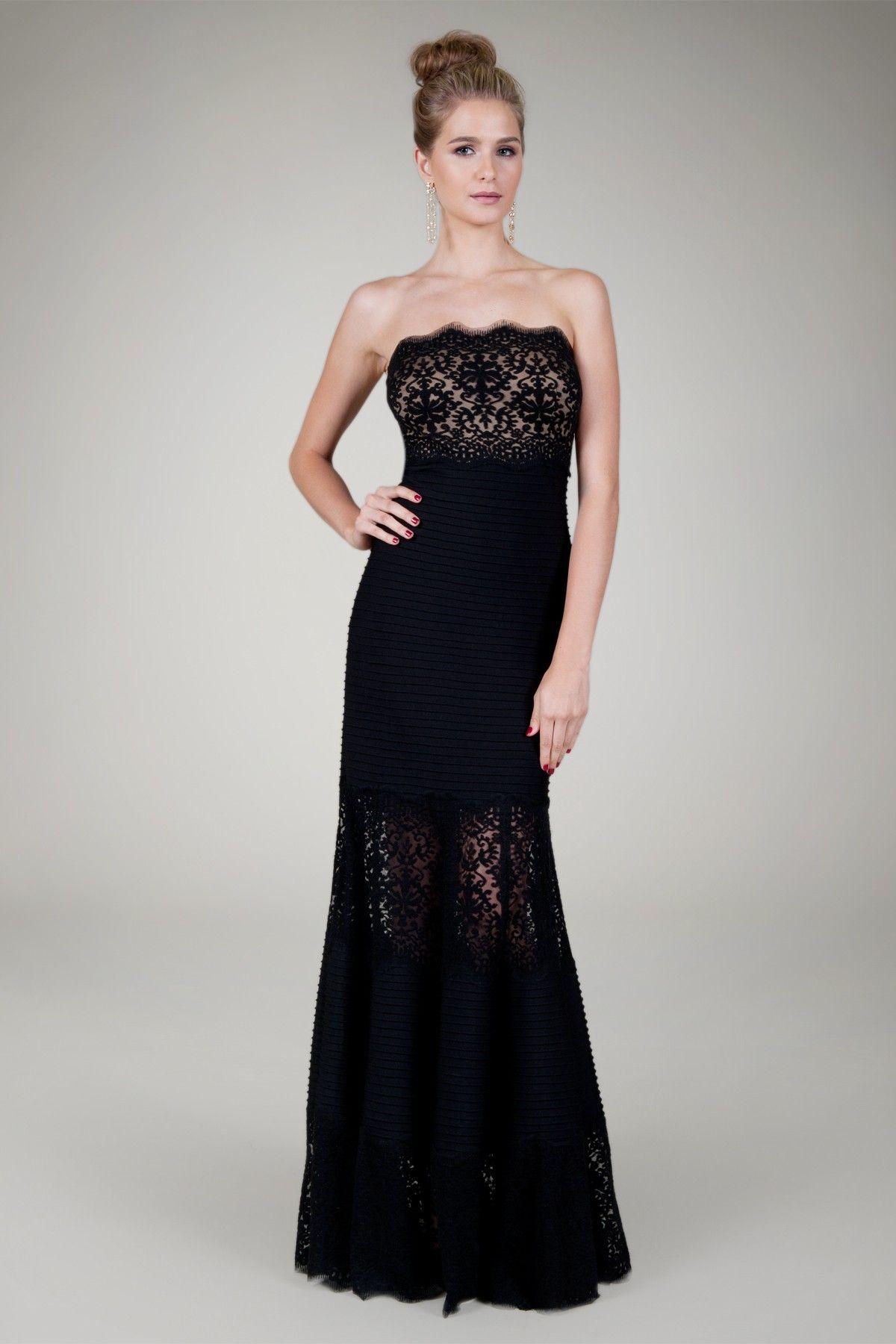 Tadashishoji Black Tie Party Dress Formal Dresses Gowns Strapless Dress Formal