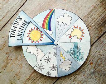 Weather todays weather montessori weather weather calendar | Etsy