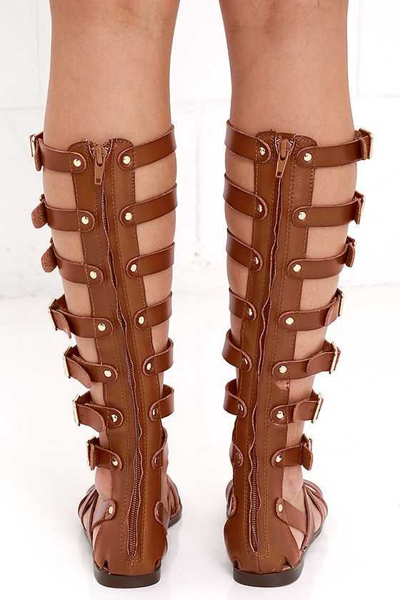 c2f0e62cc6e Madden Girl Penna Cognac Tall Gladiator Sandals in 2019 | shoes ...