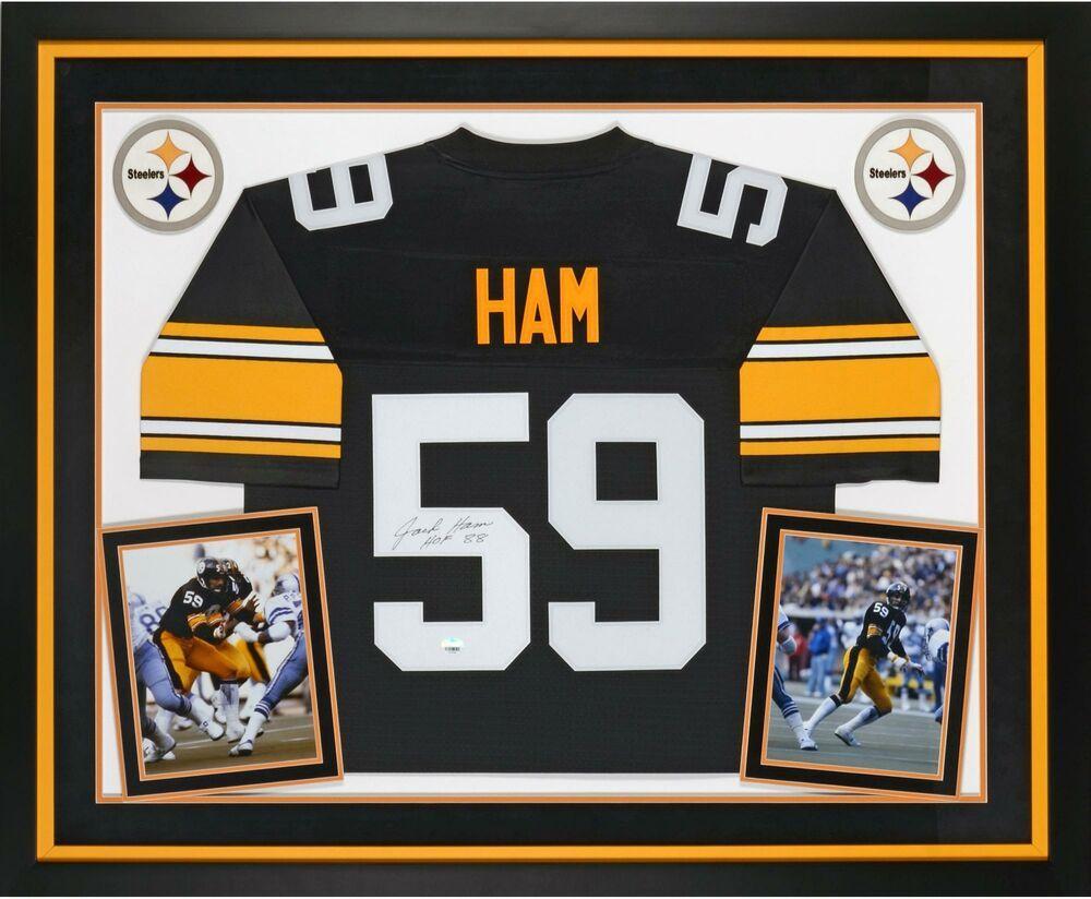 58f498ad6 Jack Ham Pittsburgh Steelers Signed Framed Black Jersey w  HOF 88 Insc   sportsmemorabilia  autograph  football