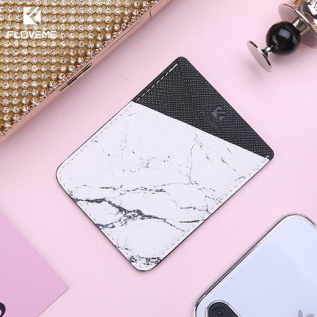 FLOVEME Colorful Adhesive Sticker Card Holder Back Cover Phone Pouch C