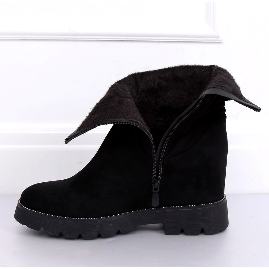 Botki Na Ukrytym Koturnie Czarne 7978 Ka Black Chukka Boots Chelsea Boots Shoes