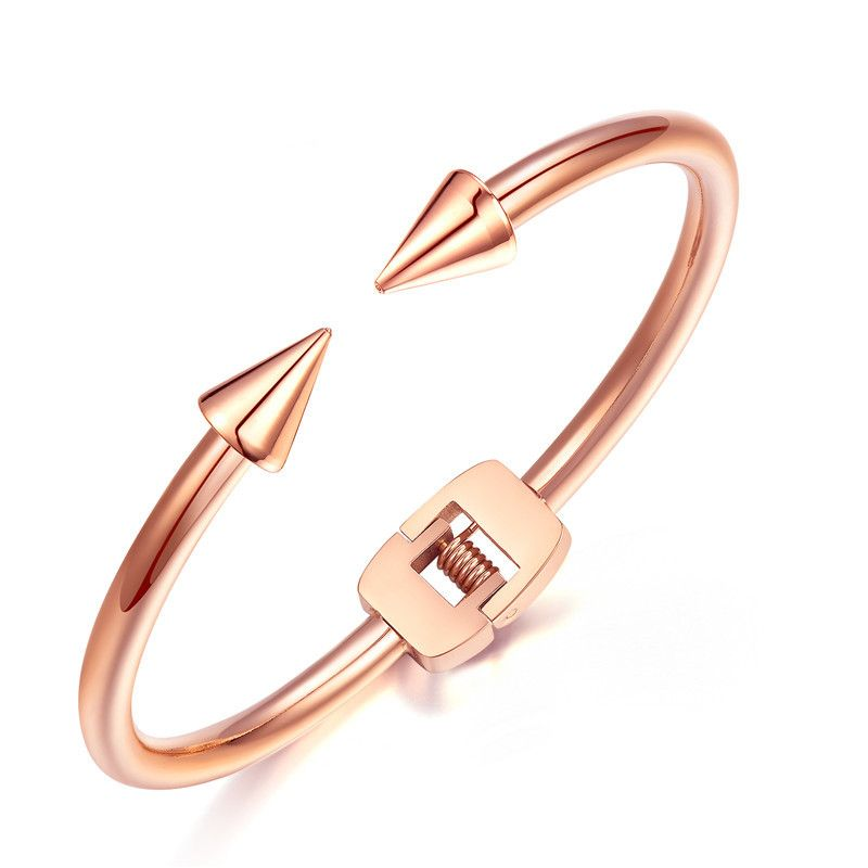 Click to Buy Tiamor Nail Bracelet Personality Rose Gold Silver