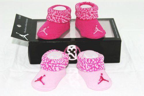 pick up a5b75 85bed Nike Air Jordan 2 Pairs Newborn Infant Baby Girl Booties ...