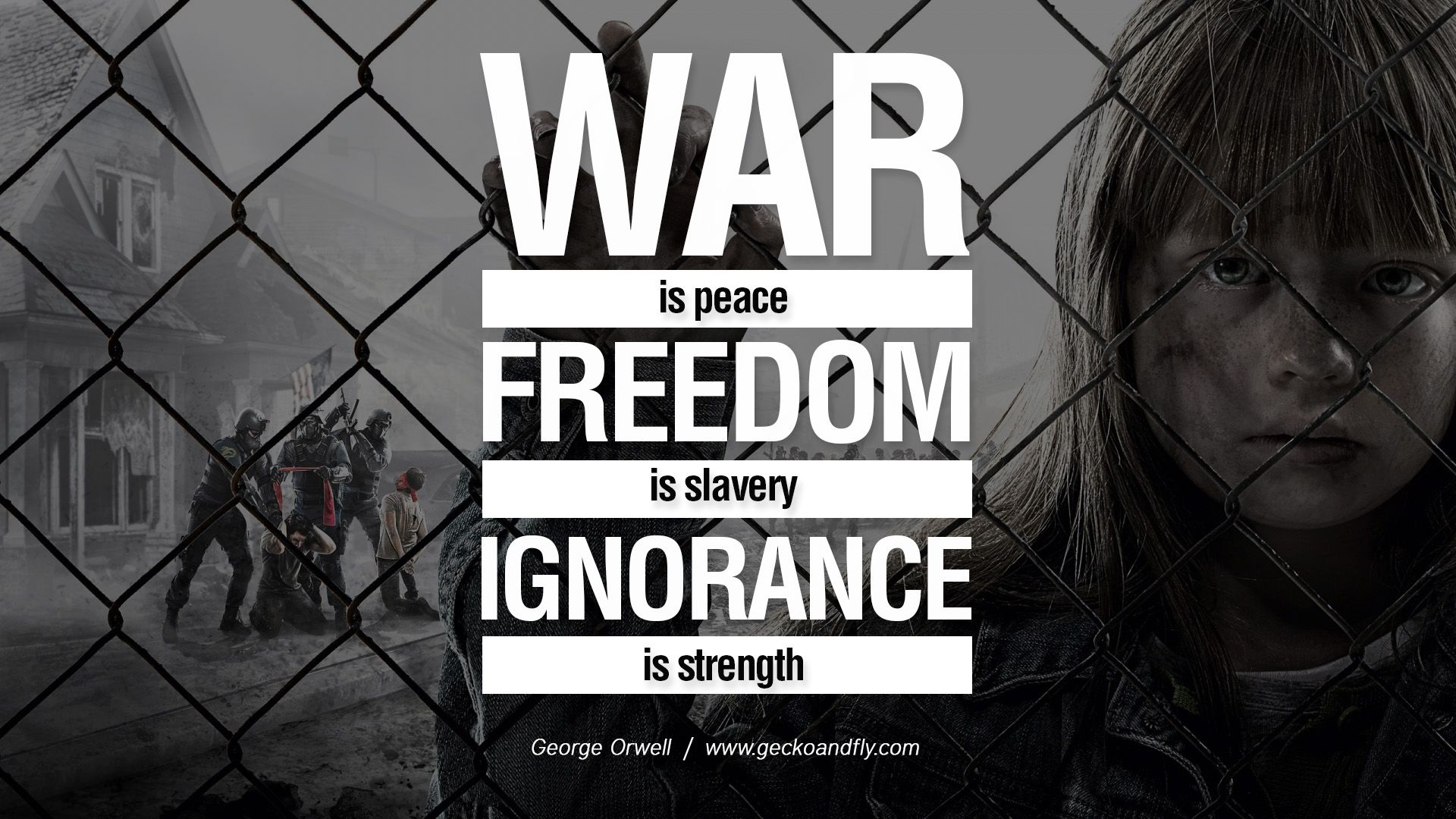 "ignorance is strength in george orwells 1984 Orwell's 1984: the kingdom of big brother is within you george orwell's ""1984"" is a best seller again ignorance is strength."