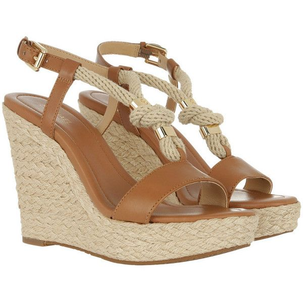 433793f28e2f Michael Kors Sandals - Holly Leather Wedges Acorn - in brown - Sandals.