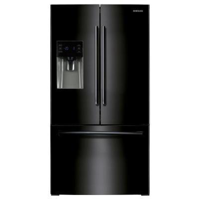 Samsung 246 Cu Ft French Door Refrigerator In Black Rf263beaebc